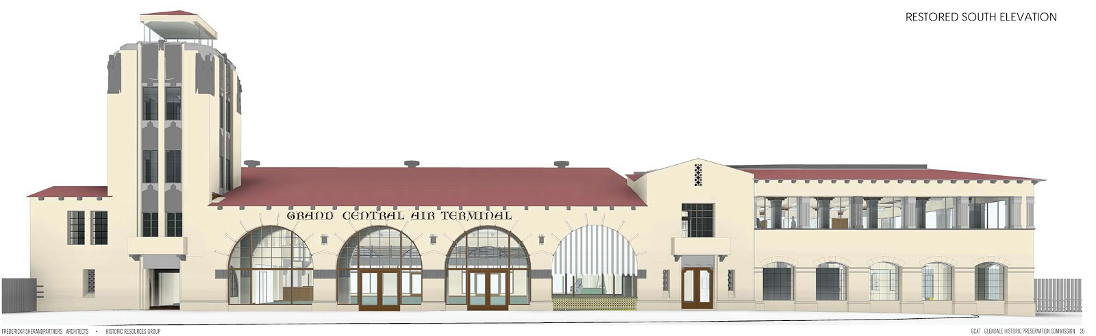 Architects' rendering of the south restoration
